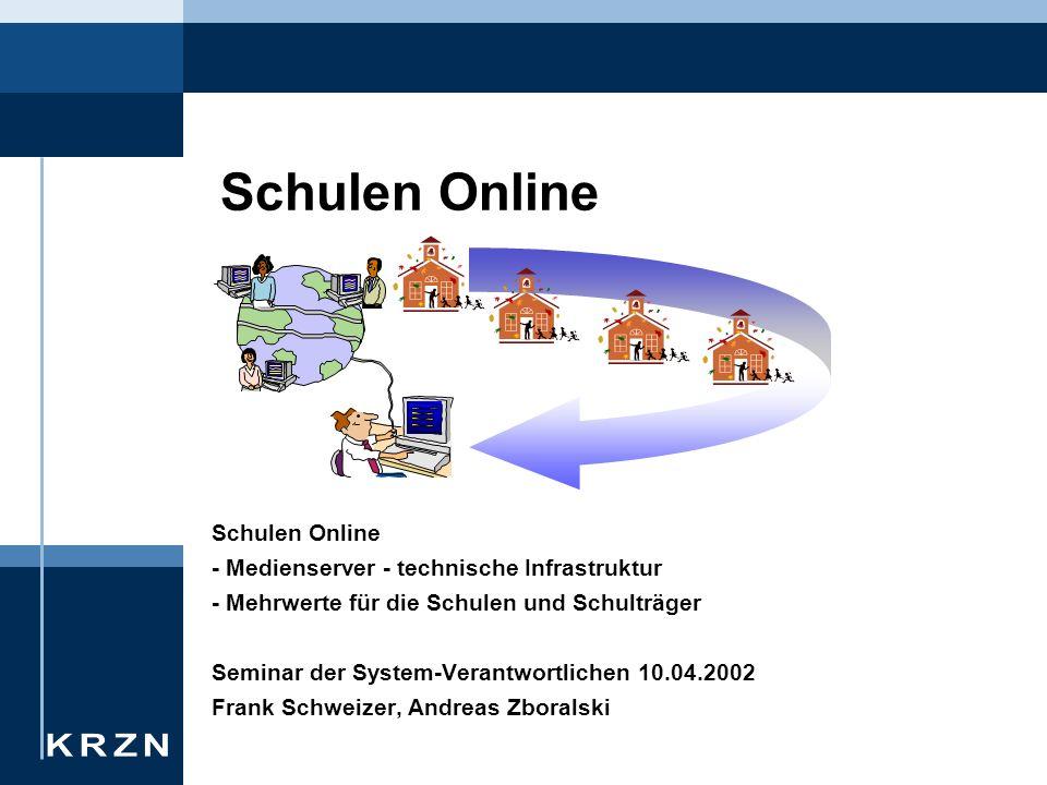 Konzeption Schulen Online Ausgangslage Medienserver Ergebnisse Techn.