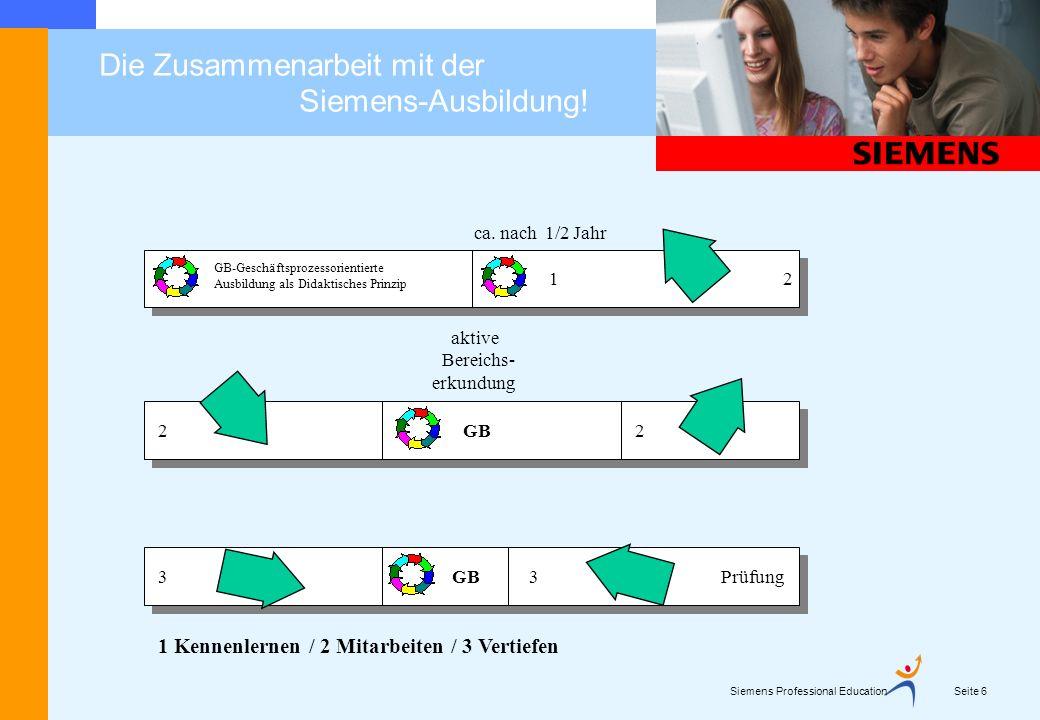 Die Zusammenarbeit mit der Siemens-Ausbildung! Seite 7