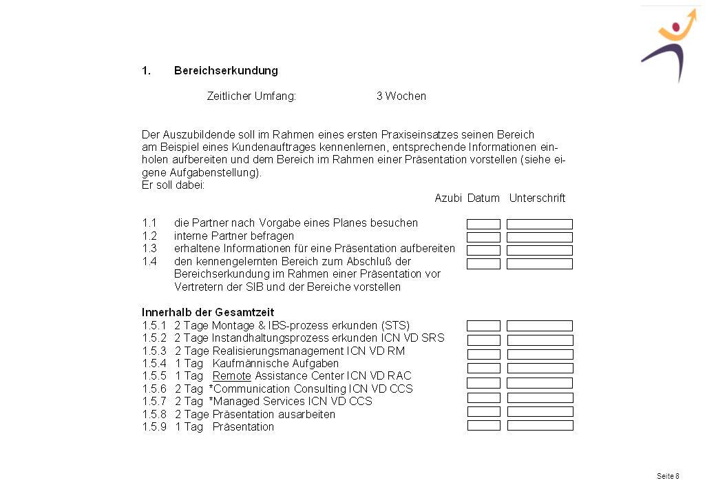 Die Zusammenarbeit mit der Siemens-Ausbildung! Seite 9