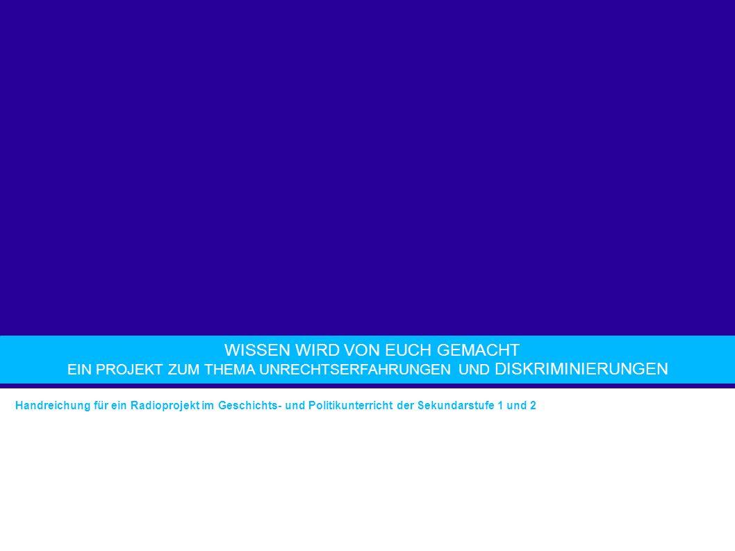 GESTALTUNG DER SENDUNG Einführung ins Radio-Machen Bestandteile einer Radiosendung Sendeplanung O-Töne Musik Anmoderation Abmoderation Radiobeitrag: Interview, gesprochener Text, Gesprächsrunde etc.