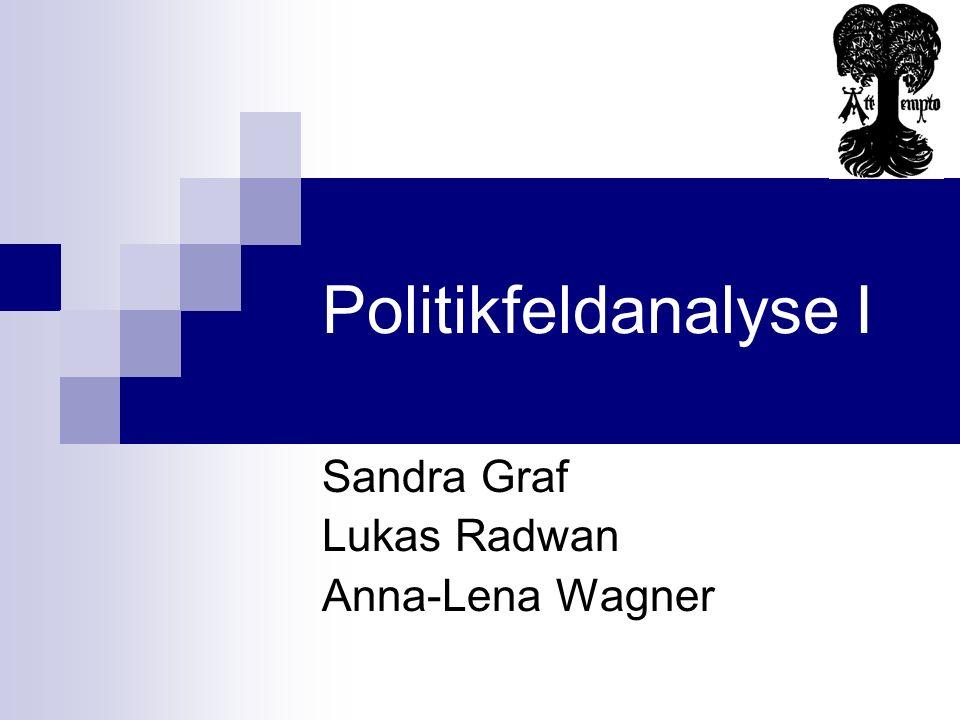Politikfeldanalyse I Sandra Graf Lukas Radwan Anna-Lena Wagner