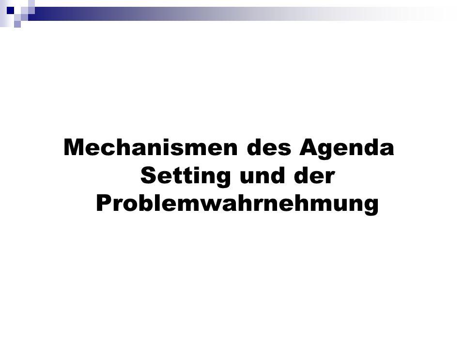 Mechanismen des Agenda Setting und der Problemwahrnehmung