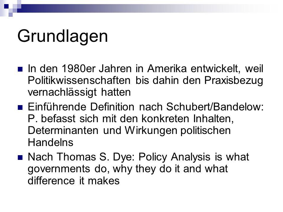 Implementations-forschung der 80er/90er Implementationsintrumente: regulative Instrumente (z.