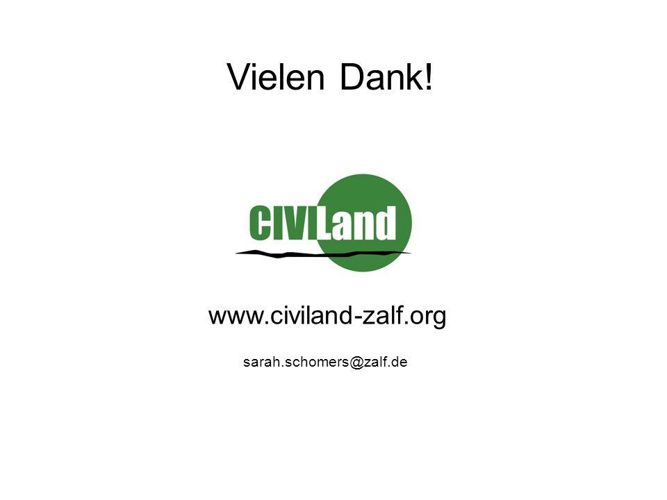 sarah.schomers@zalf.de Vielen Dank! www.civiland-zalf.org