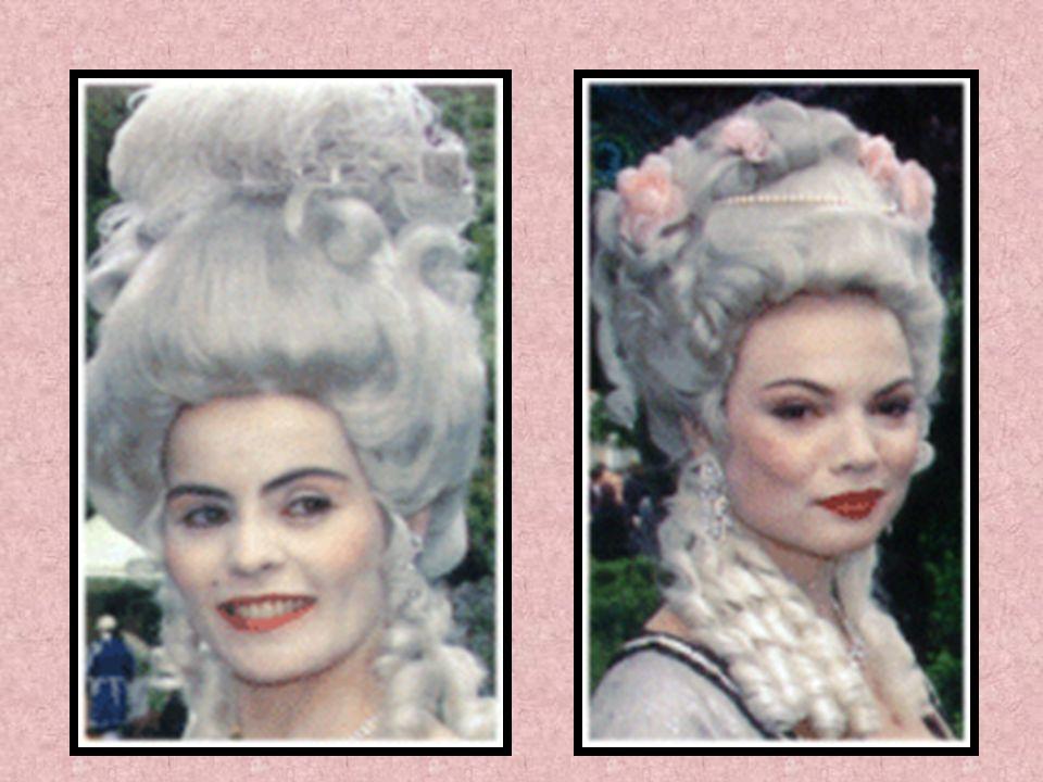 Die meisten adeligen Damen haben ihr Gesicht mit einer Maske geschützt, und erst viel später mit einem Schleier. Um den Hals haben sie gerne einen Pel