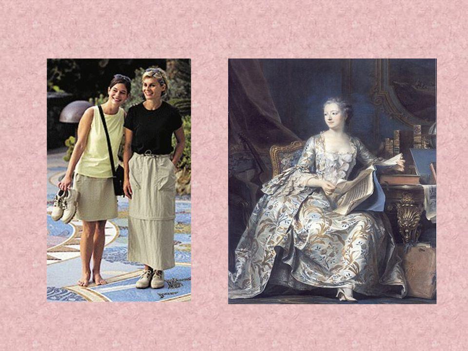 Mode von Barock bis heute Die Mode hat sich bis Heute sehr verändert. Es wurde vieles abgeschafft sowie eingeführt, wie zum Beispiel: die Hose für die
