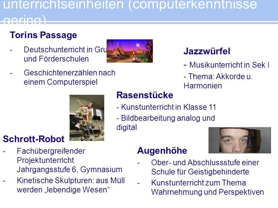 unterrichtseinheiten (computerkenntnisse gering) Torins Passage -Deutschunterricht in Grund- und Förderschulen -Geschichtenerzählen nach einem Compute