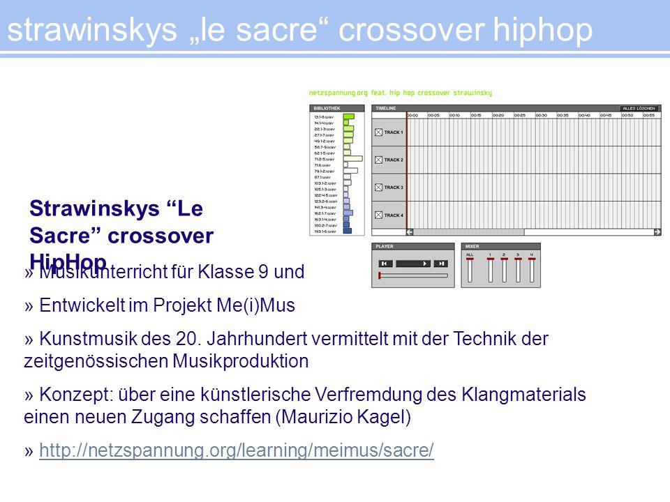 » Musikunterricht für Klasse 9 und 10 » Entwickelt im Projekt Me(i)Mus » Kunstmusik des 20. Jahrhundert vermittelt mit der Technik der zeitgenössische