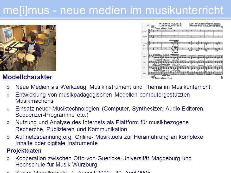 »Neue Medien als Werkzeug, Musikinstrument und Thema im Musikunterricht »Entwicklung von musikpädagogischen Modellen computergestützten Musikmachens »