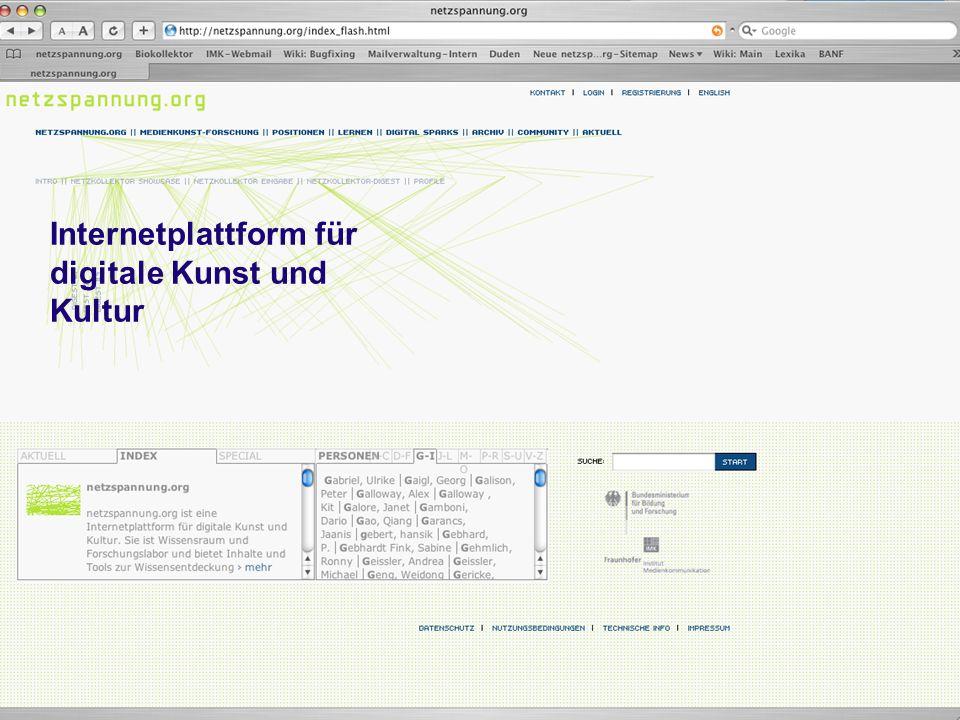 Internetplattform für digitale Kunst und Kultur