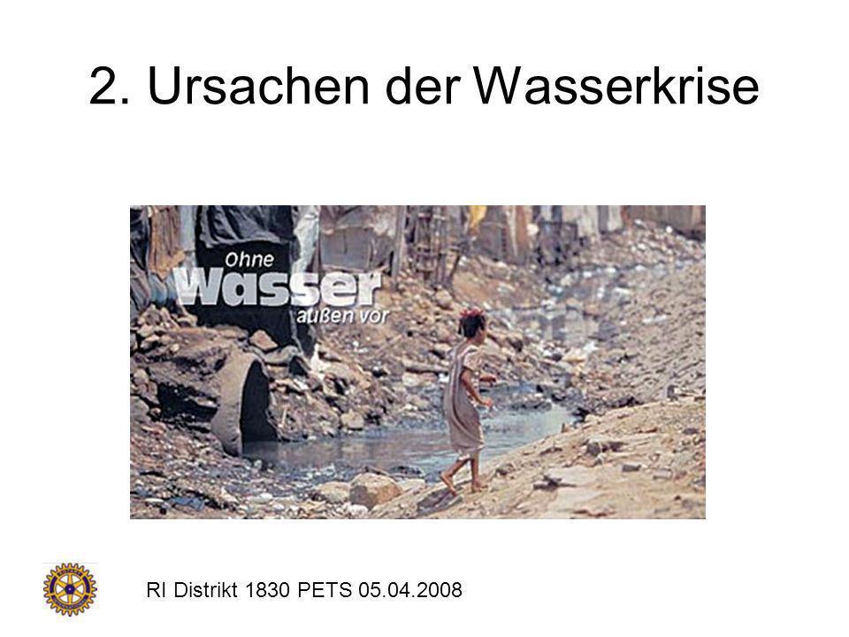 RI Distrikt 1830 PETS 05.04.2008 2. Ursachen der Wasserkrise