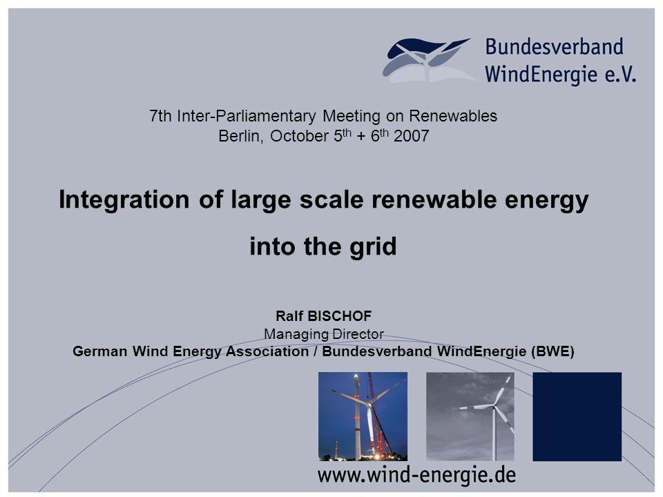 Focus: Requirements for low shares of wind energy in the system System services can be provided by residual conventional power plants But some contributions of wind farms are indispensable already now -Reactive power (decentral!) -Congestions management (distribution level) -Low voltage ride through = LVRT -Reaction to disturbances (e.g.