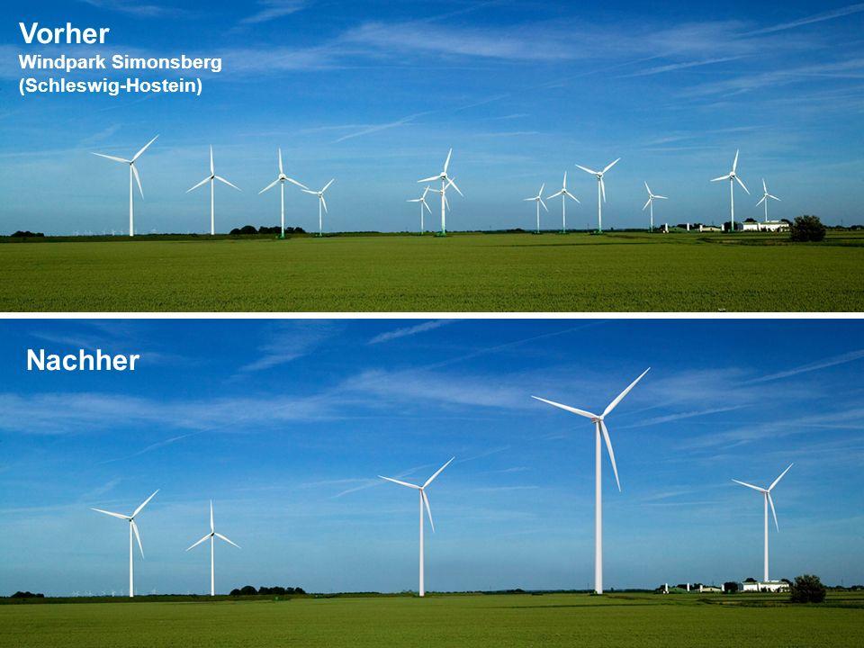 Vorher Windpark Simonsberg (Schleswig-Hostein) Nachher
