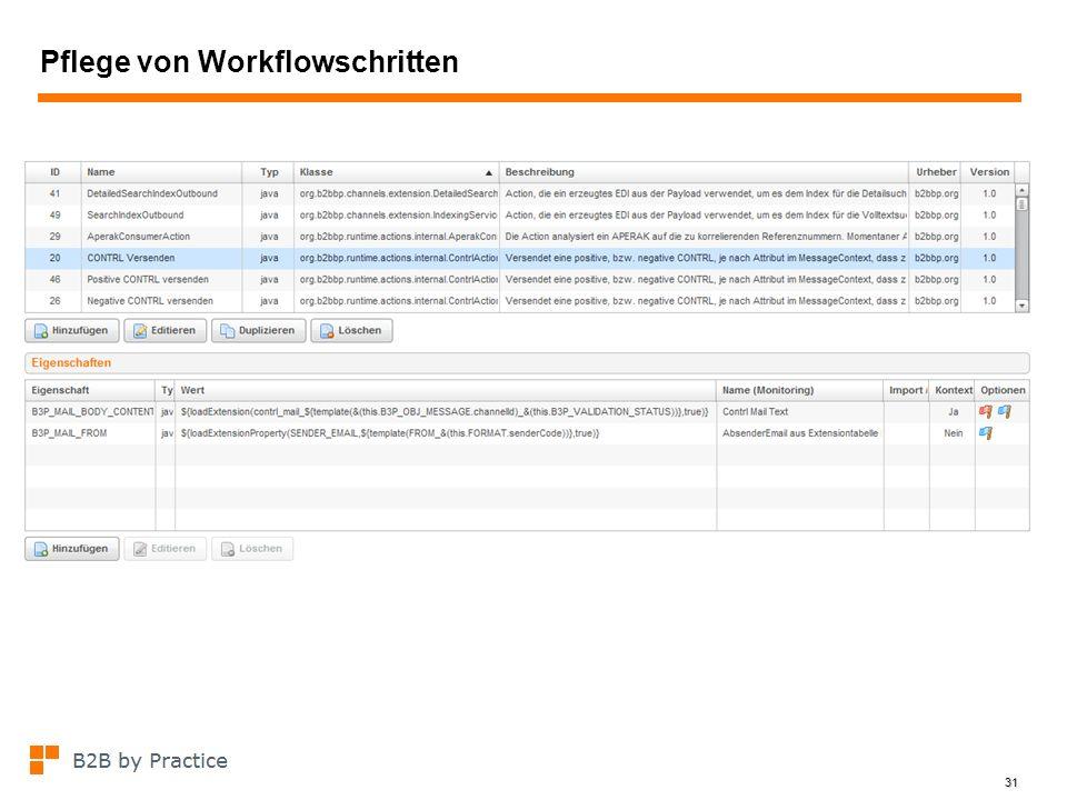 31 Pflege von Workflowschritten