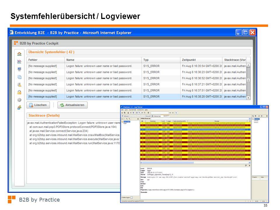 33 Systemfehlerübersicht / Logviewer