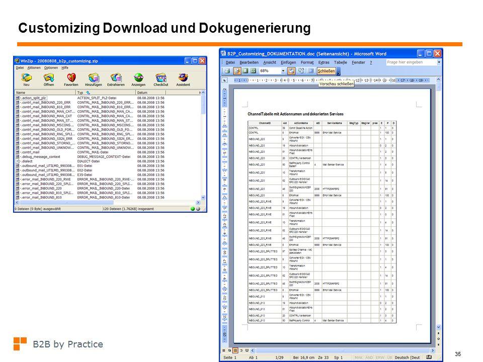 35 Customizing Download und Dokugenerierung