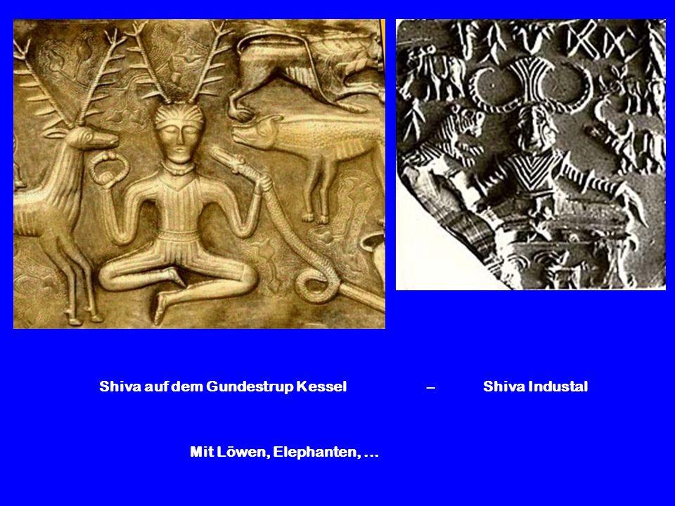 Shiva auf dem Gundestrup Kessel – Shiva Industal Mit Löwen, Elephanten,...