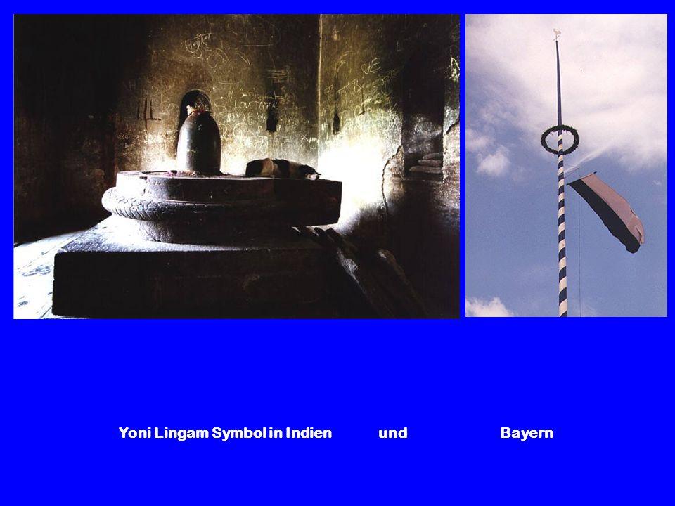 Yoni Lingam Symbol in Indien und Bayern