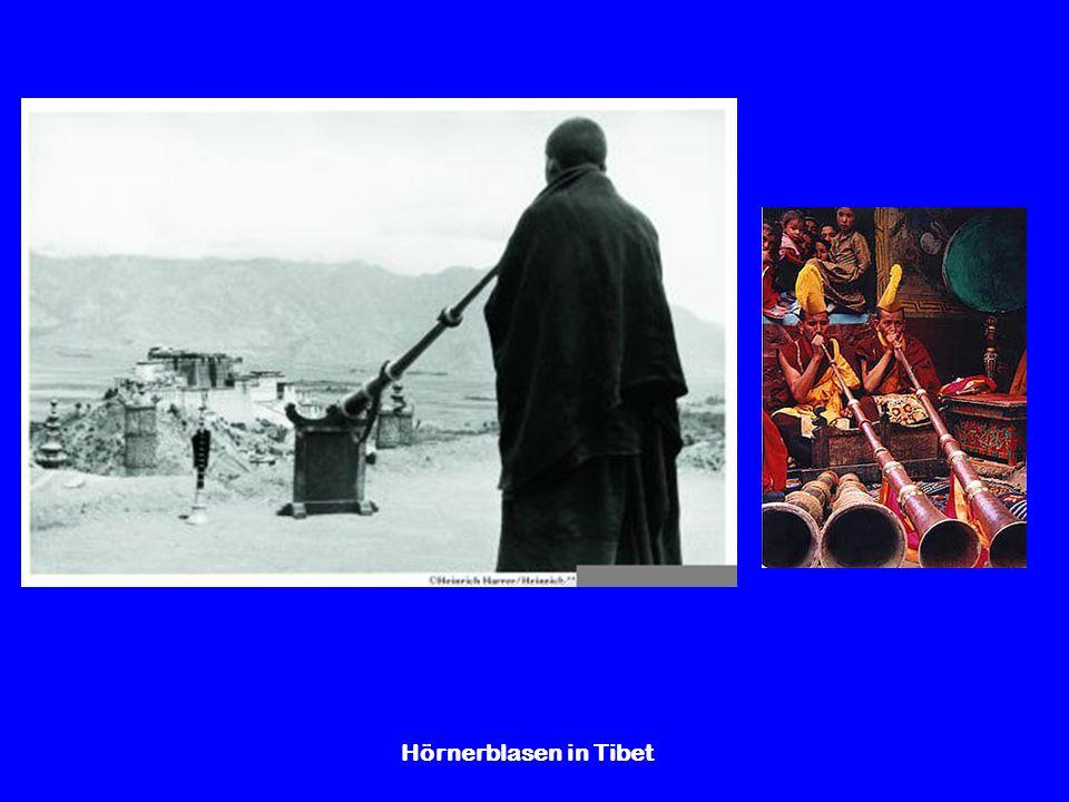 Hörnerblasen in Tibet