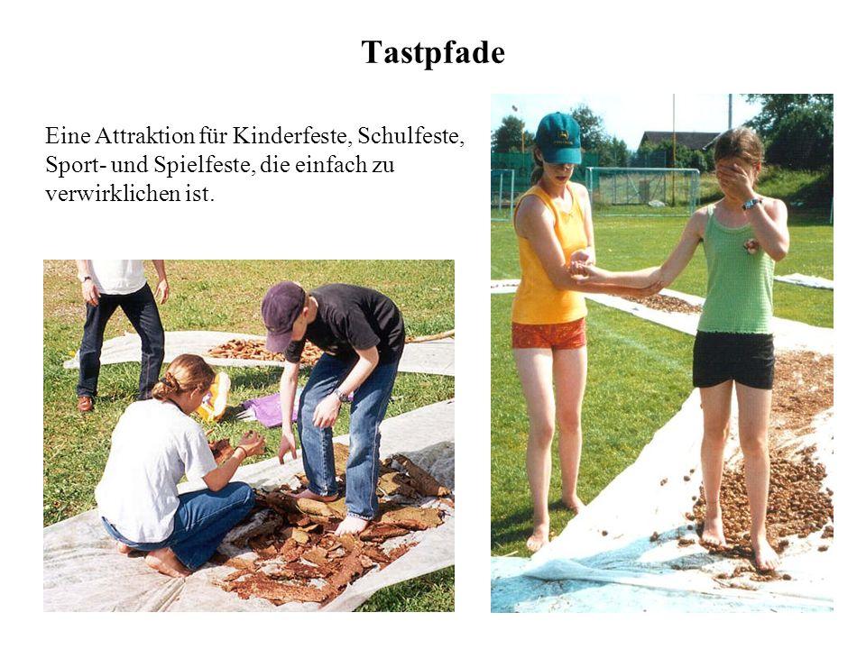 24 Tastpfade Eine Attraktion für Kinderfeste, Schulfeste, Sport- und Spielfeste, die einfach zu verwirklichen ist.