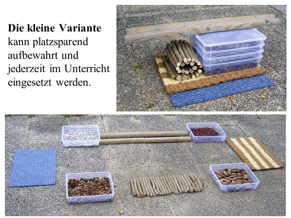 31 Die kleine Variante kann platzsparend aufbewahrt und jederzeit im Unterricht eingesetzt werden.