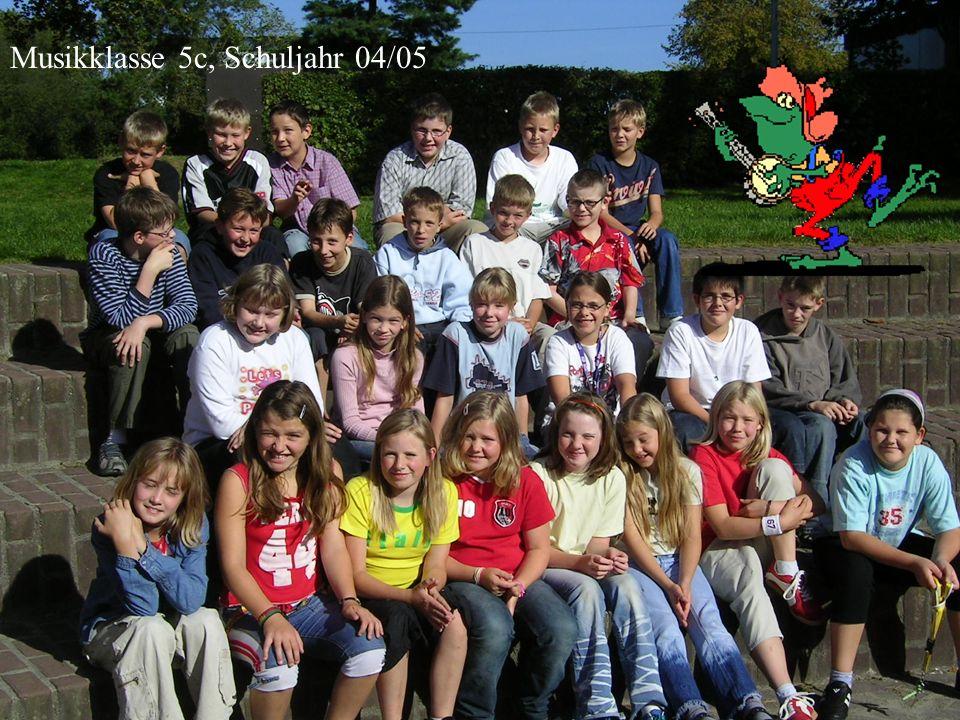 Musikklasse 5c, Schuljahr 04/05