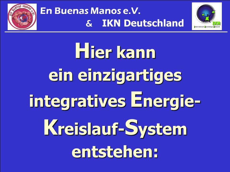 H ier kann ein einzigartiges integratives E nergie- K reislauf- S ystem entstehen: En Buenas Manos e.V. & IKN Deutschland