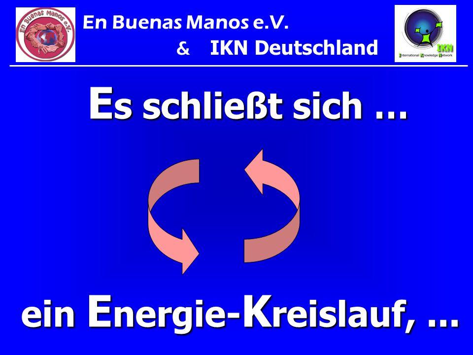 E s schließt sich … ein E nergie- K reislauf,... En Buenas Manos e.V. & IKN Deutschland