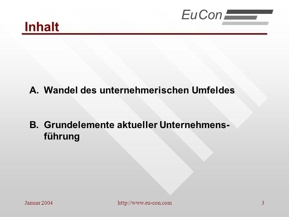 Januar 2004http://www.eu-con.com14 Weitere Trends 1.Abnehmende Fertigungstiefe * EuCon