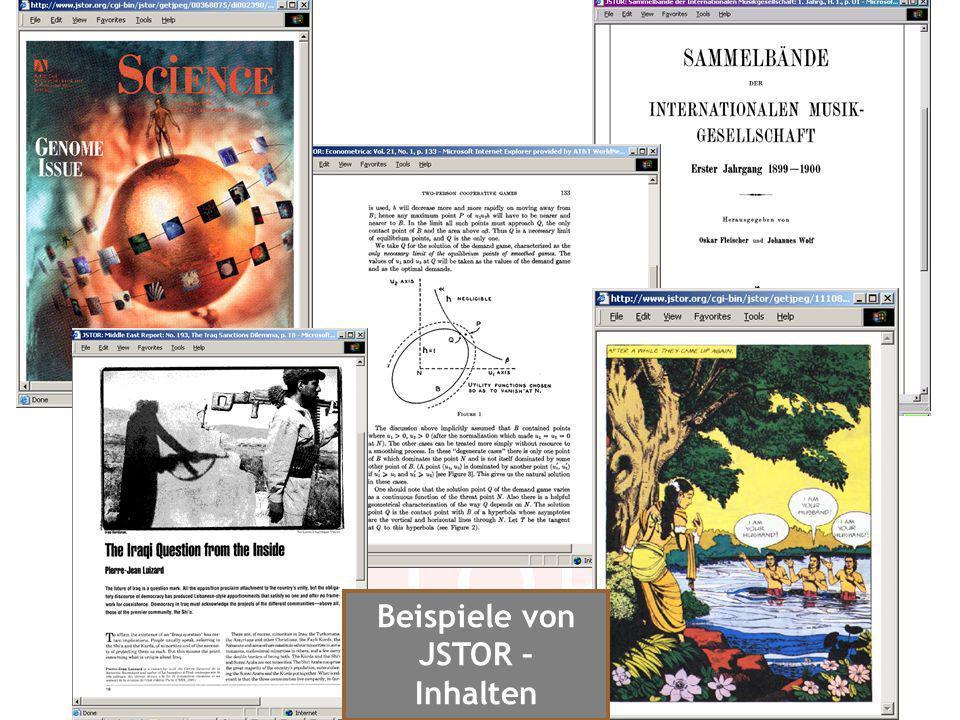 Beispiele von JSTOR – Inhalten