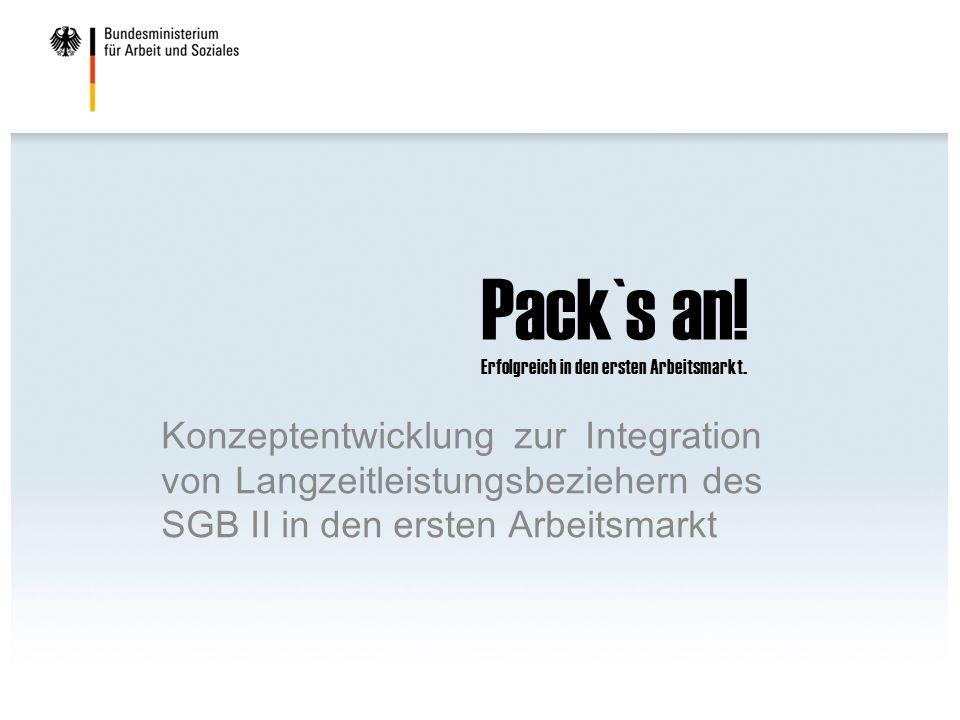 Pack`s an! Erfolgreich in den ersten Arbeitsmarkt. Konzeptentwicklung zur Integration von Langzeitleistungsbeziehern des SGB II in den ersten Arbeitsm