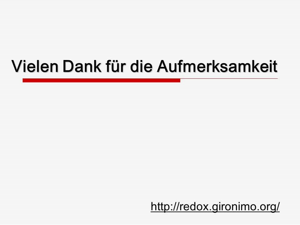 Vielen Dank für die Aufmerksamkeit http://redox.gironimo.org/