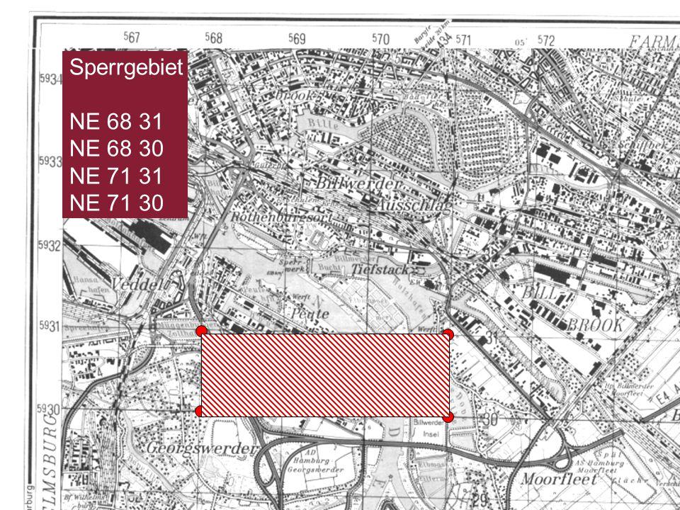 Folie 31Feuerwehr- und Katastrophenschutzschule Rheinland-Pfalz Sperrgebiet NE 68 31 NE 68 30 NE 71 31 NE 71 30