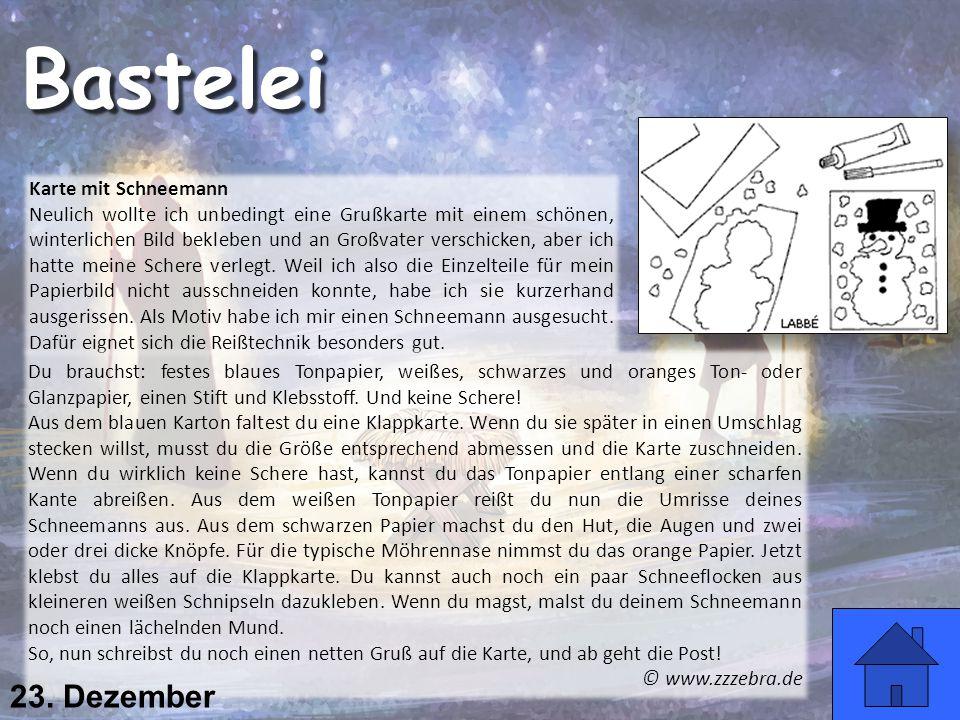 Karte mit Schneemann Neulich wollte ich unbedingt eine Grußkarte mit einem schönen, winterlichen Bild bekleben und an Großvater verschicken, aber ich