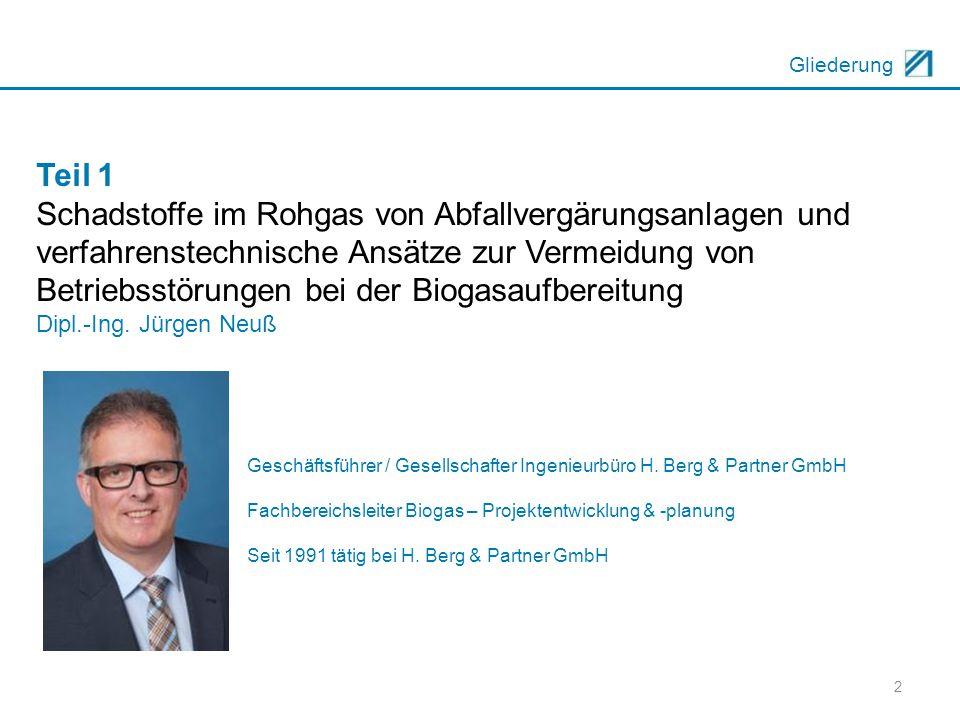 3 Gliederung Teil 2 Betriebskostenoptimierung am Beispiel der BGAA Zülpich- Geich/BGA Diefenthal Dipl.-Ing.