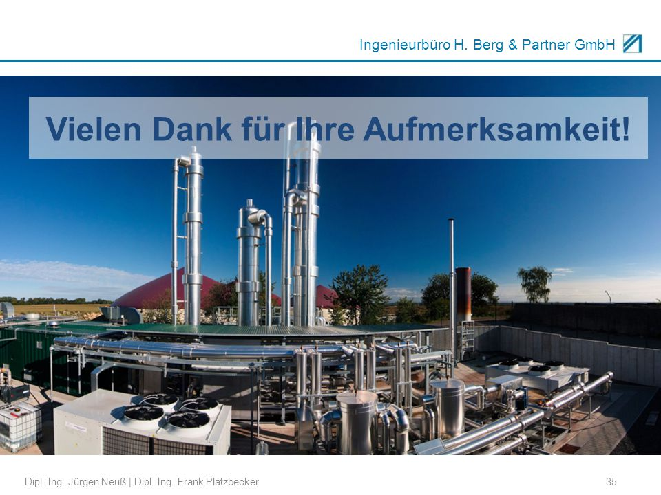 Dipl.-Ing. Jürgen Neuß | Dipl.-Ing. Frank Platzbecker35 Ingenieurbüro H. Berg & Partner GmbH Vielen Dank für Ihre Aufmerksamkeit!
