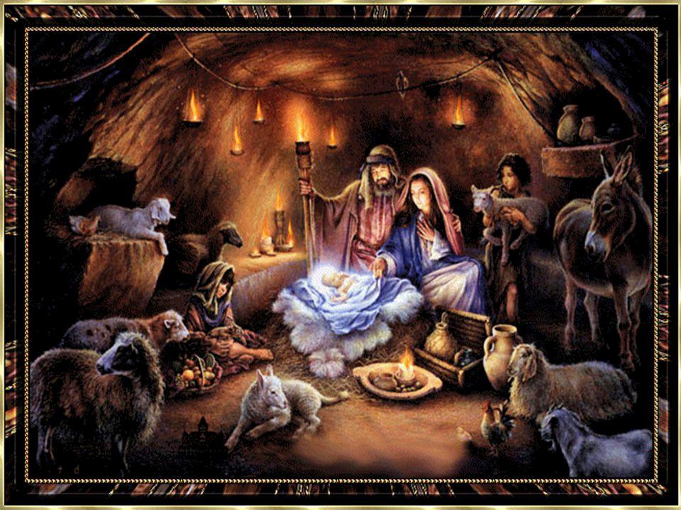 Weihnachtsbotschaft Silbern glänzt die Nacht hernieder, nur vom Sternenlicht erhellt, weit von fern erklingen Lieder, künden Freude in die Welt. Heute