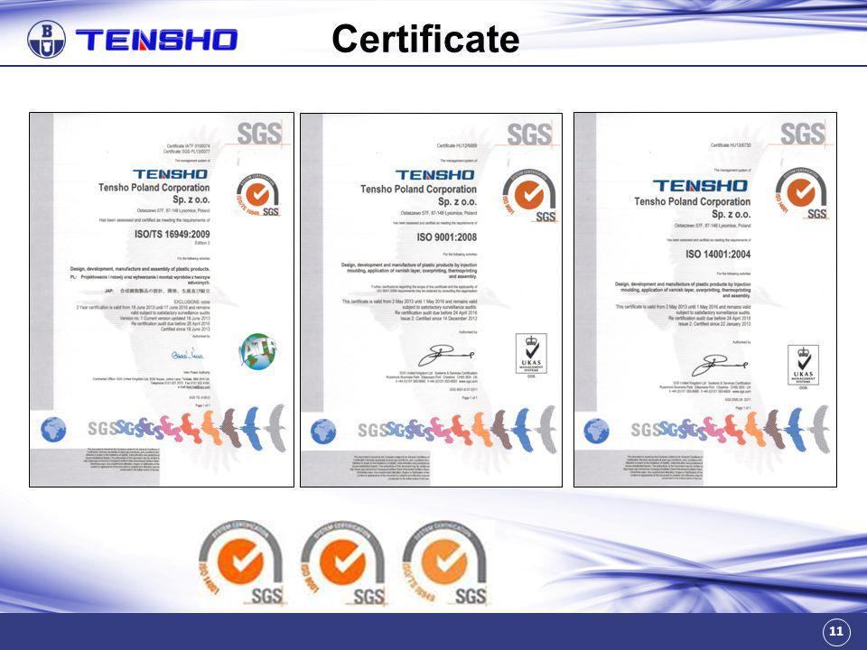 11 Certificate