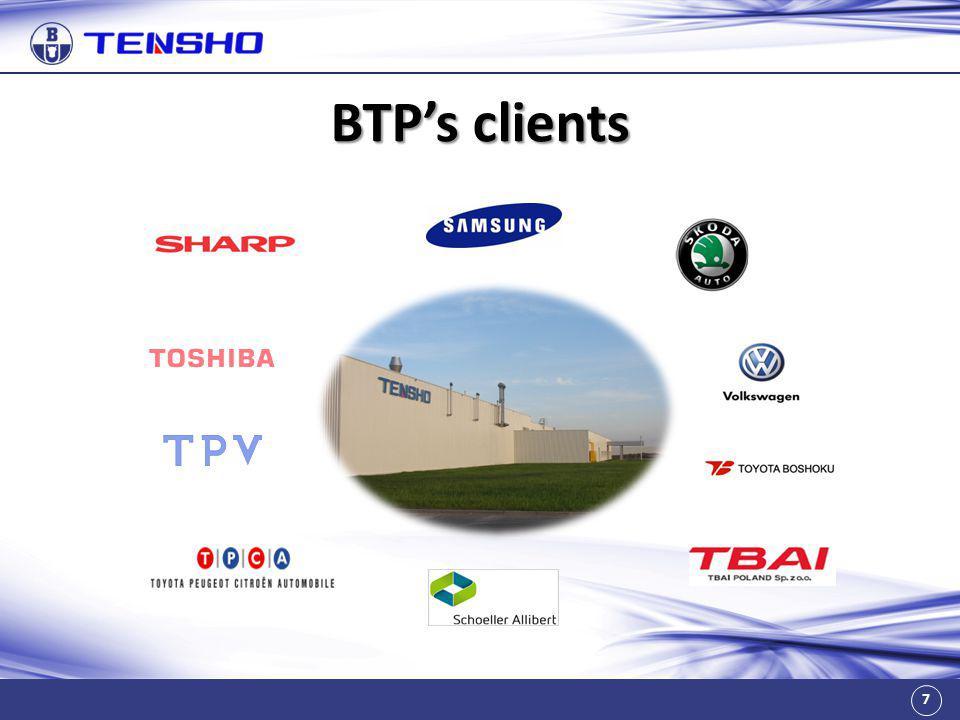 7 BTP's clients