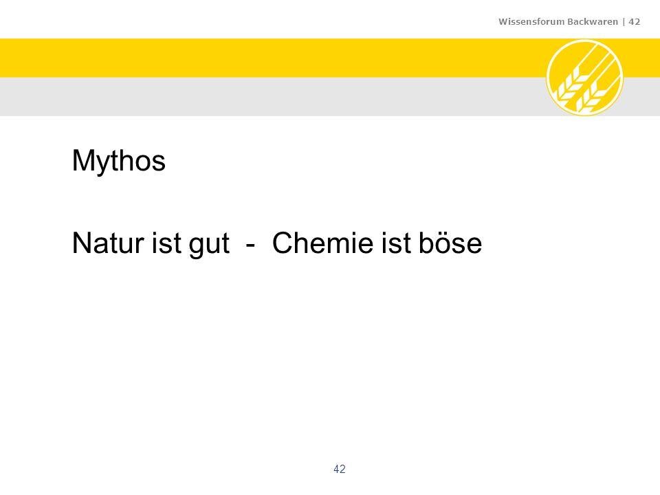 Wissensforum Backwaren | 42 42 Mythos Natur ist gut - Chemie ist böse