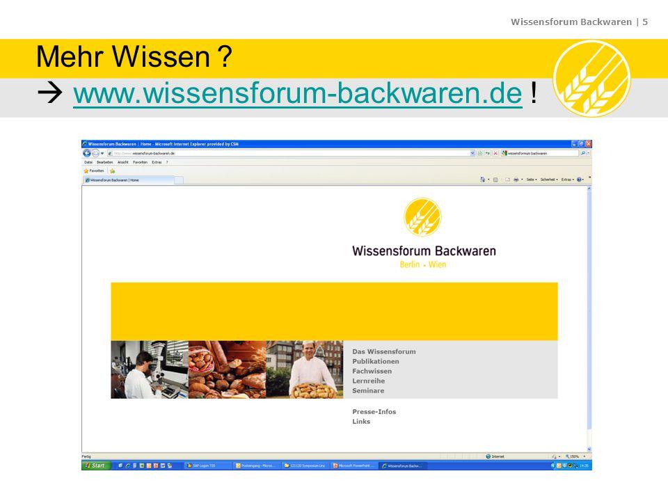 Wissensforum Backwaren   26 26 Geschichte der Backmittel (nach Wassermann, L.
