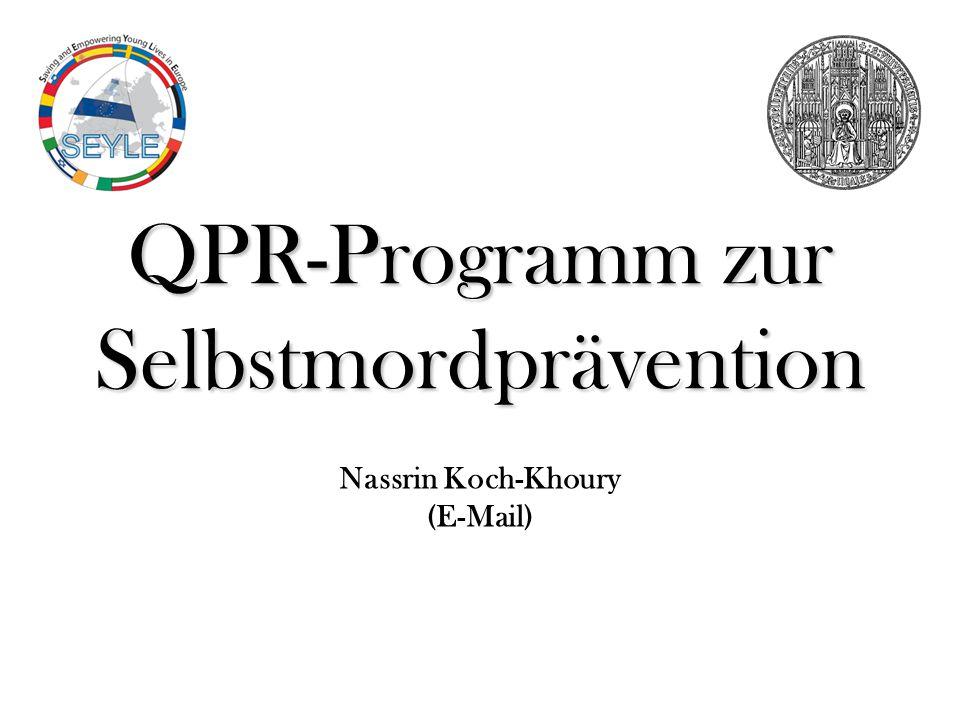 Nassrin Koch-Khoury (E-Mail) QPR-Programm zur Selbstmordprävention