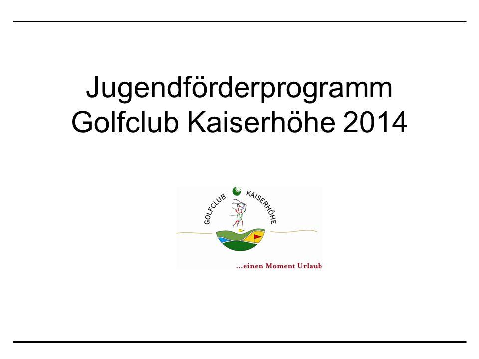Jugendförderprogramm Golfclub Kaiserhöhe 2014