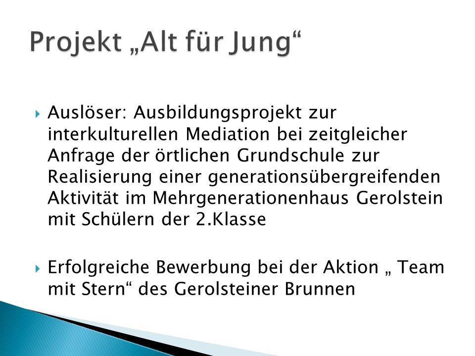 """ Am 24.03.2013 verstarb der """"Leihopa des Projektes nachkurzer schwerer Krankheit."""