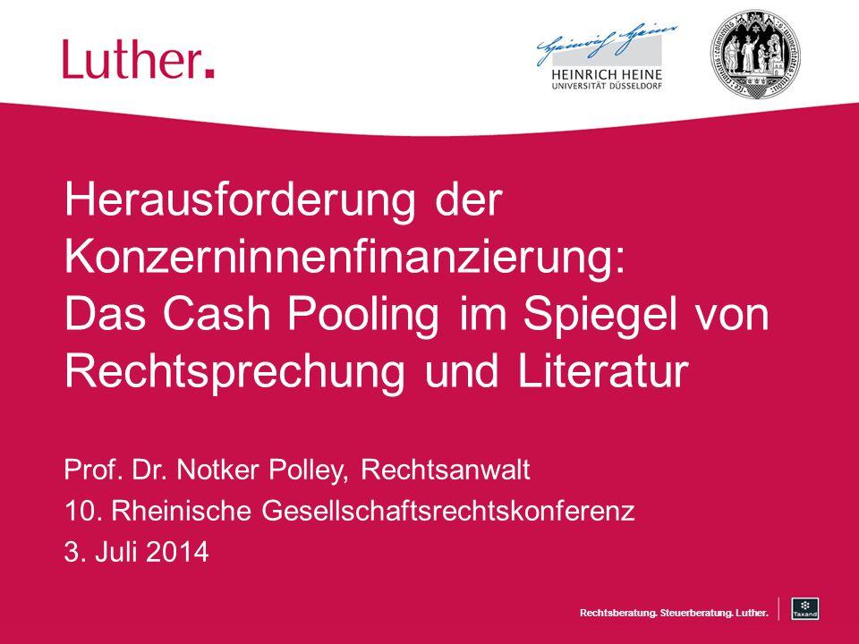 Rechtsberatung.Steuerberatung. Luther.