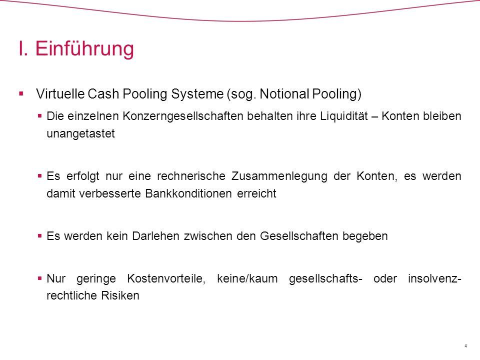  Die Begründung der Entscheidung Cash Pool II (Forts.)  In Höhe des Betrages, der den Soll-Saldo der H-GmbH ausgleicht, liegt eine verdeckte Sacheinlage vor.