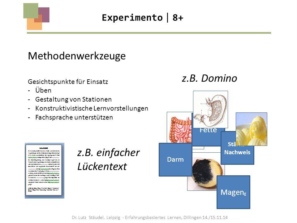 Methodenwerkzeuge Gesichtspunkte für Einsatz - Üben - Gestaltung von Stationen - Konstruktivistische Lernvorstellungen - Fachsprache unterstützen Fett