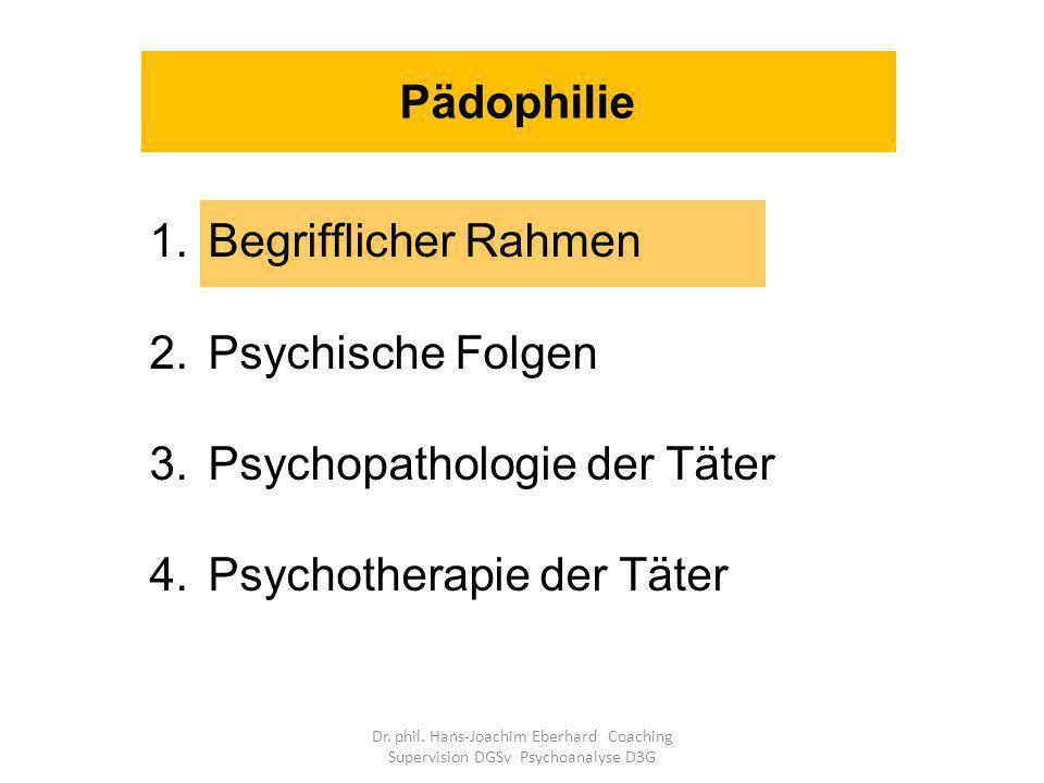 Unterschiedliche traumagene Dynamiken für die Opfer können dominieren: Traumatische Sexualisierung Stigmatisierung Vertrauensmissbrauch Hilflosigkeit und Ohnmacht (Finkelhor 1988) Psychische Folgen für die Opfer Dr.