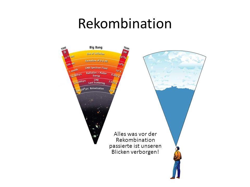 Rekombination Alles was vor der Rekombination passierte ist unseren Blicken verborgen!