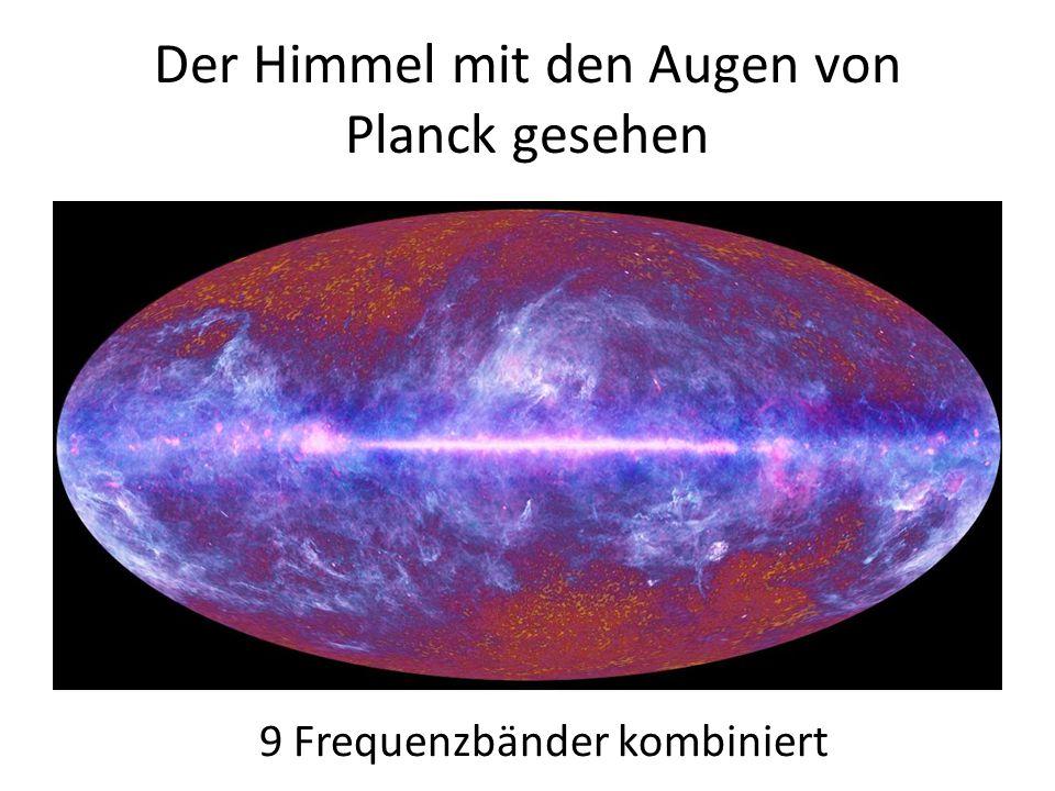 Der Himmel mit den Augen von Planck gesehen 9 Frequenzbänder kombiniert